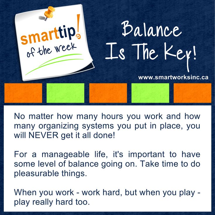 Are you working hard to stay ahead of everything but feeling exhausted from trying to do it all? You're a human being not a human doing. Check out this Tip of the Week for a reminder of this. Balance Is The Key! www.smartworksinc.ca