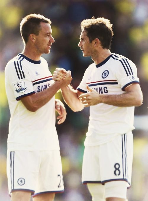 John Terry and Frank Lampard. Norwich City 1-3 Chelsea. Premier League. Sunday, October 6, 2013.
