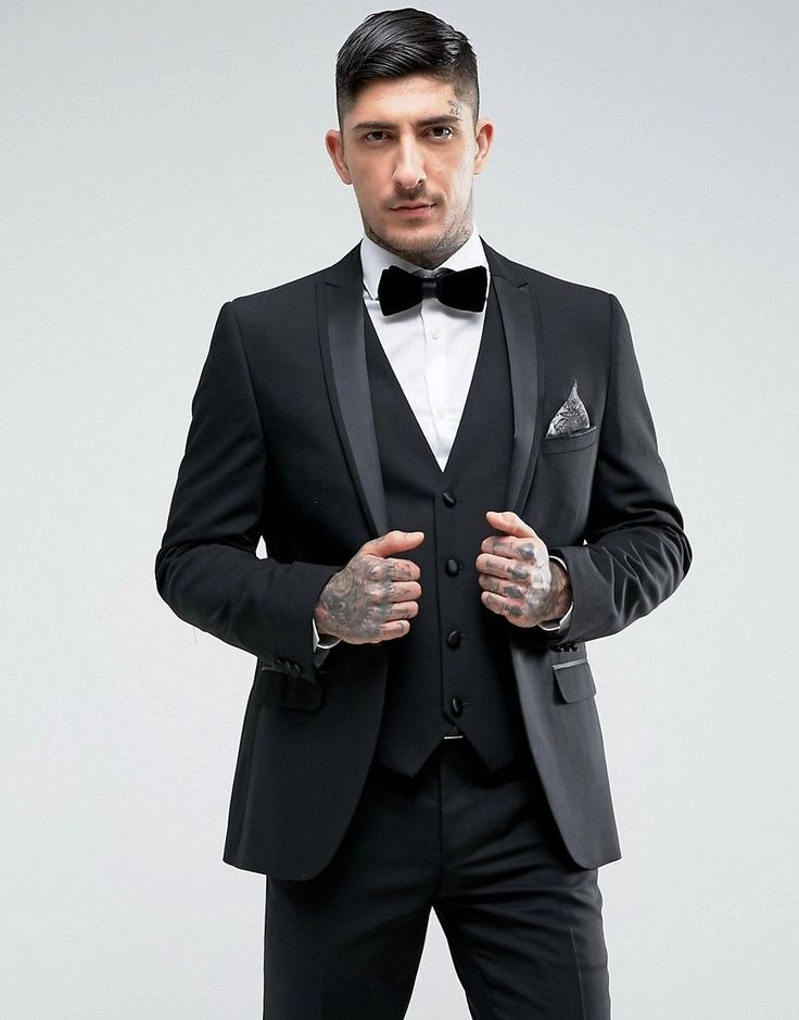 Harry Brown Slim Fit Dinner Suit Jacket - Black