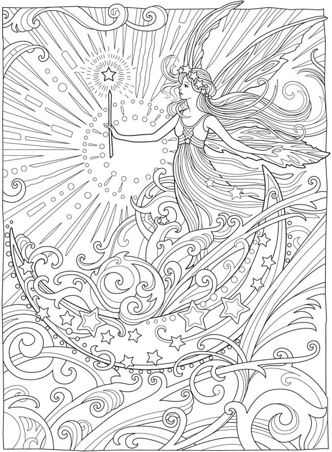 From Creative Haven Magical Fairies Coloring Book