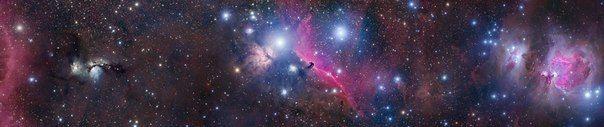 Туманность Ориона, Конская Голова, Пламя и M78. / Astro Analytics