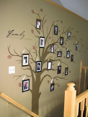 DIY family tree on a budge i've wanted to do this for so long!