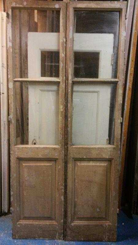 nr. set440 set oude deuren met ruiten