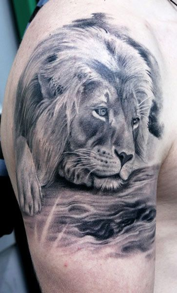 25 best lion tattoo images on pinterest simple lion for Tattoo generator on body