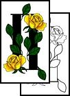gemini Tattoo Design (LAF-00050)    my mom was a gemini & her favorite flower was the yellow rose, my daughter is a gemini & her birthstone is an emerald I would like a tattoo that joins the 2 together