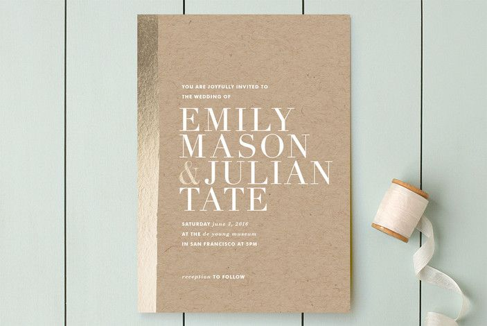 Band of Gold Wedding Invitations by annie clark at minted.com
