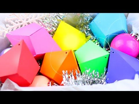 GEMSTONE PAPER ORNAMENTS ✦ DIY Christmas Tree Decor - YouTube