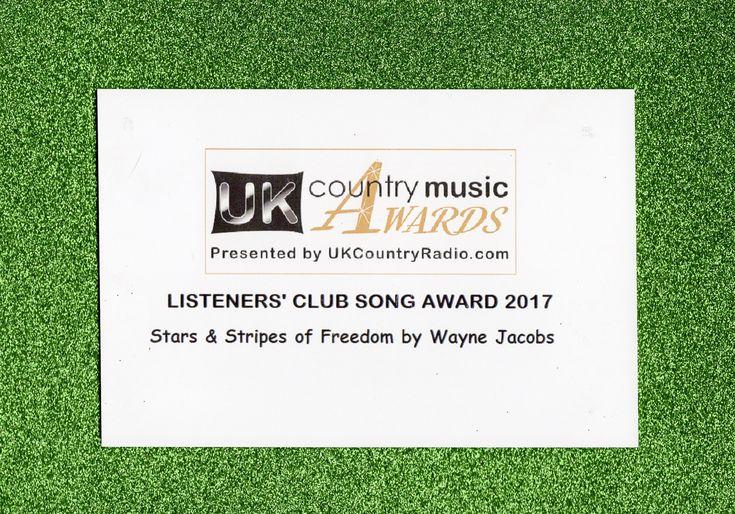 "2017 UkCountryRadio.com Listener's Club Music Award  Winner Wayne Jacobs  ""Stars & Stripes Of Freedom"""
