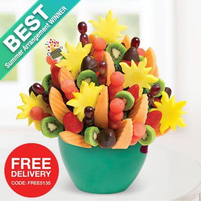 Edible Arrangements - Voted Best Summer Arrangement! Watermelon Kiwi Summer Bouquet™ Dipped Strawberries in Serving Bowl