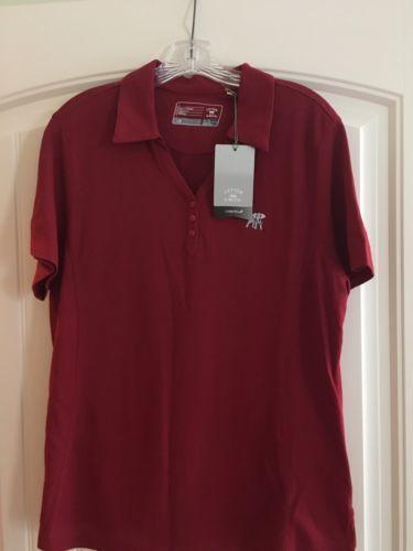 NWT-Alabama-Crimson-Tide-Elephant-Wear-Ladies-XL-Crimson-Red-Cutter-amp-Buck-Shirt