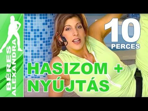 Béres Alexandra torna     Hasizom gyakorlatok 3. + Nyújtás     10 perc