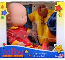 caillou doll with classic day outfit and pajamas - for Jonah?