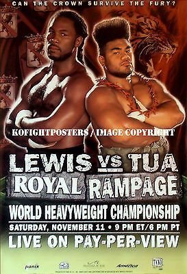 Lennox lewis vs. #david tua / original full-size tvko ppv #boxing fight #poster,  View more on the LINK: http://www.zeppy.io/product/gb/2/131803497002/