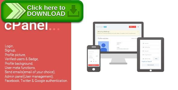 [ThemeForest]Free nulled download Clientage - Advanced PHP Login System from http://zippyfile.download/f.php?id=40535 Tags: ecommerce, admin panel, captcha, email activation, facebook login, forgotten password, google login, login, login system, manage users, php login system, signup, twitter login, user account, User profiles, website login