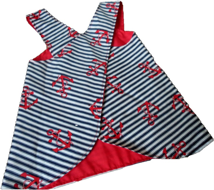 Funky baby clothes baby boutique girls dress Nautical
