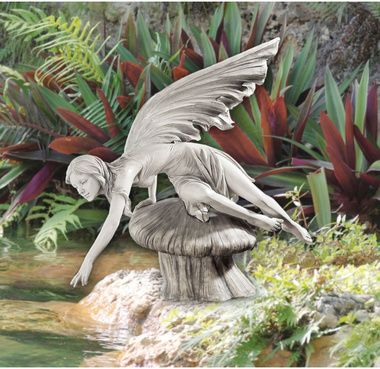 Looks beautiful hovering over a water feature in your garden.