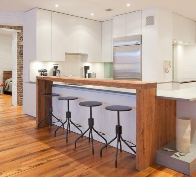Industrial Decor Puts Balance into Bright White Modern Kitchen | Barn Light Electric Blog