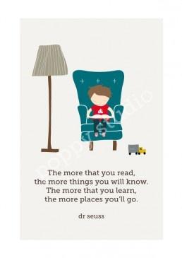 """The more that you read, Dr Seuss"" Art Print"