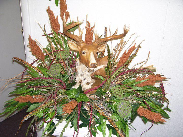 Deer Funeral Flowers For A Hunter   flowers   Pinterest