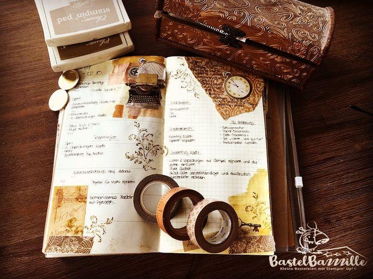 Midori Traveler's Notebook, TNB, Journal, Organizer, Diary, Stampin Up, SU, Berlin, Vintage, Vintagestyle, stempeln, stanzen, staunen, Bastelbazzzille