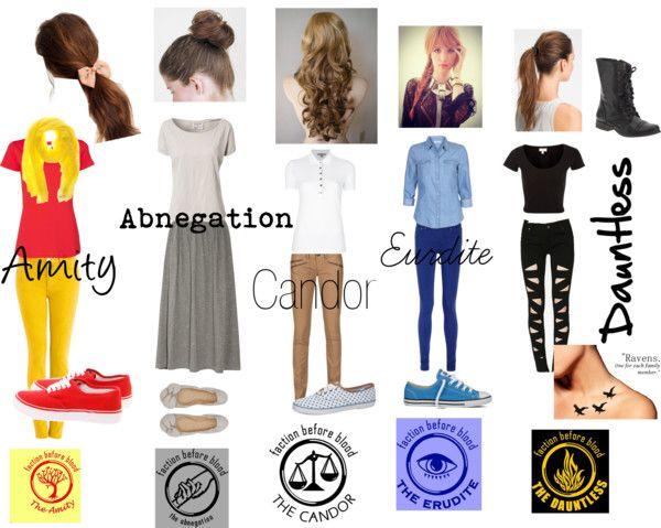 """Divergent Trilogy faction outfits"" by stephaniewasag on ..."