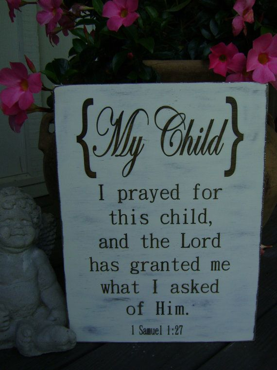 I prayed for this child picture 1 Samuel 1 27 For this Child I have prayed Rustic Baby Shower, Unique gift,