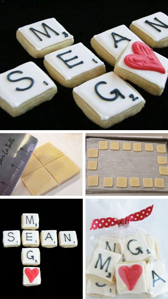 Scrabble de galletas en Recetas de galletas de como preparar, cocinar y hornear