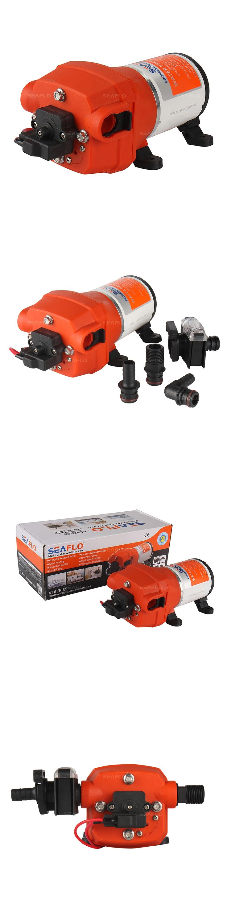 SEAFLO 12v Electric Intermittent Diaphragm Pump 12 Volts DC 3.3 GPM 12.5 LPM Marine Industrial Pumps Replace shurflo Water Pump
