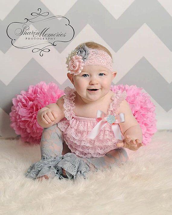 Lt Pink Petti Romper/Silver Romper/Lace Romper/Baby Petti Romper/Newborn Petti Romper/Easter Romper Set/Baby Romper for Girls/Lace Romper by OohLaLaDivasandDudes on Etsy https://www.etsy.com/listing/226259366/lt-pink-petti-rompersilver-romperlace