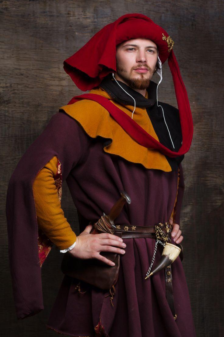 Kostüm für Herren aus dem 15. Jahrhundert in Mitteleuropa