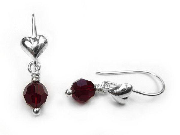 Birthstone Earrings - July Ruby