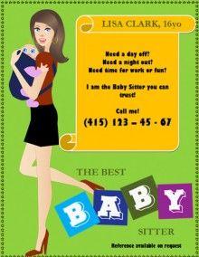 Počet nápadov na tému Babysitting Flyers na Pintereste: 17 ...
