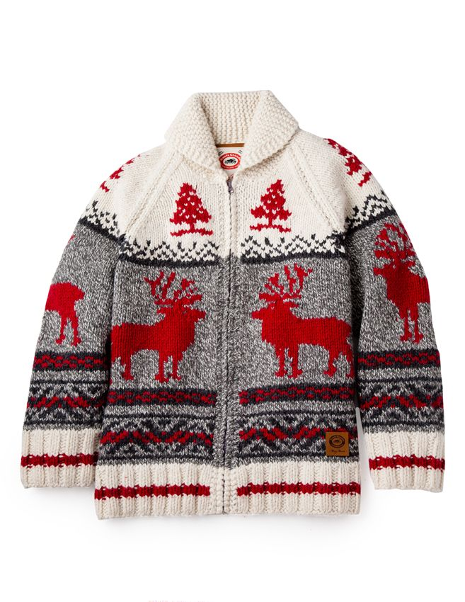 Mary Maxim began with hand knit designs in the early 1950s, influenced by the beautiful wildlife of North America. In celebration of their 60th anniversary (!), we've created a nostalgic collaboration featuring the iconic curling sweaters and accessories that are just as quintessentially Canadian today as they were then. The entire collection will be available November 2014!