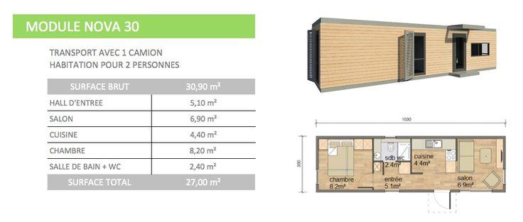 Les 25 meilleures id es de la cat gorie maison modulaire sur pinterest mais - Module habitation bois ...