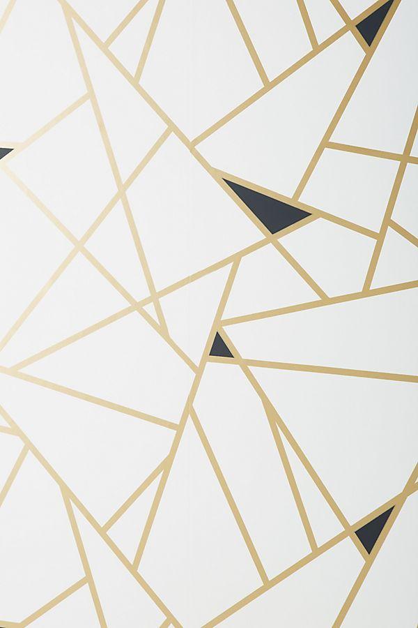 Geo Mosaic Wallpaper Mosaic Wallpaper Gold Geometric Wallpaper White And Gold Wallpaper