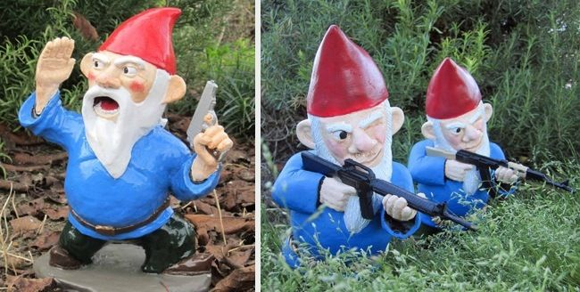 17 best images about twisted yards on pinterest gardens for Combat gnomes for sale