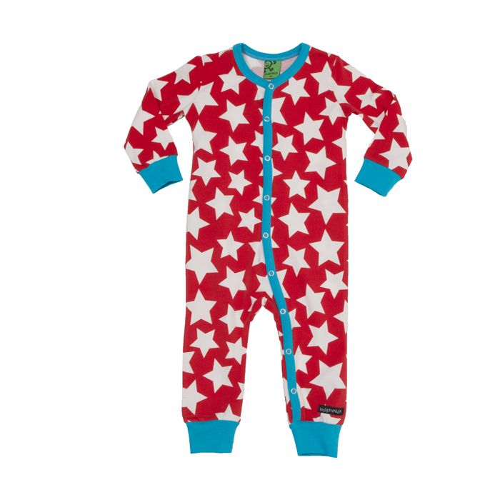 Villervalla kids clothing - bodysuit l/s STARS CORAL