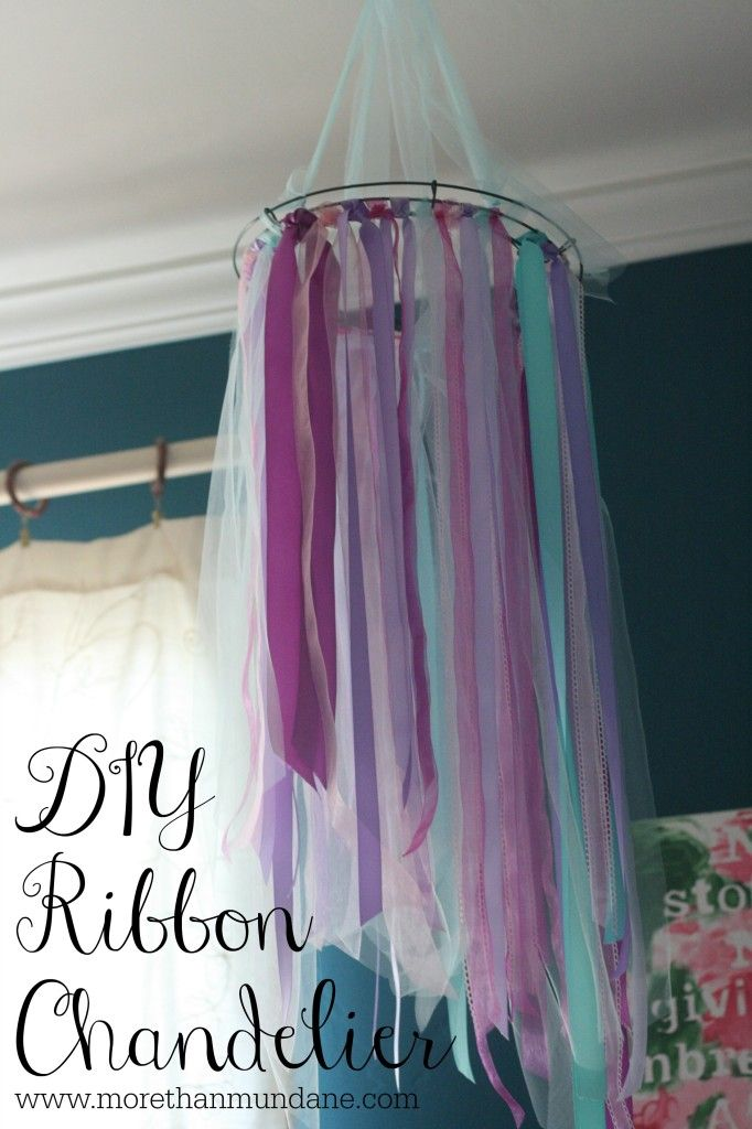DIY Ribbon Chandelier | www.morethanmundane.com