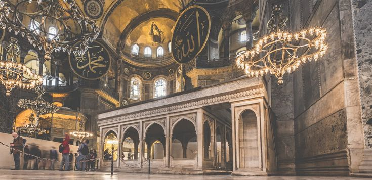 There are 5 muezzin's loges in Hagia Sophia. The first one located on the east of the main place was built by Sultan Murad III in the 16th century.