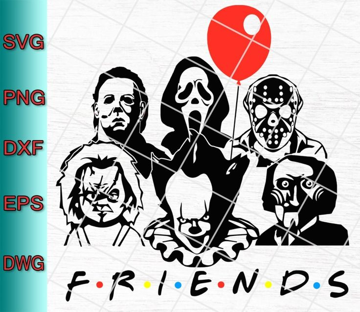 Friends Horror Movie Creepy Halloween Svg Png Eps Dxf