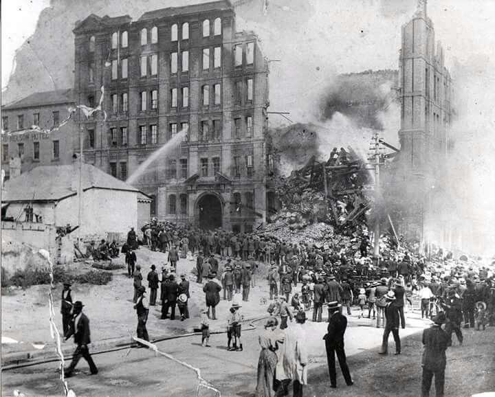 On 20 March 1903 the Hentzch's Bond Store on the corner of Kent and Windmill St,Millers Point,Sydney caught fire.The fire was so aggressive,that it shot flames high into the air,lighting up the surrounding areas and drawing in an estimated 8000 spectators.The entire Metropolitan Fire Brigade and its total complement of 13 steam fire engines turned up to help fight the fire.However,despite their best efforts the damage bill came to an estimated $100 million of today's money.A♥W