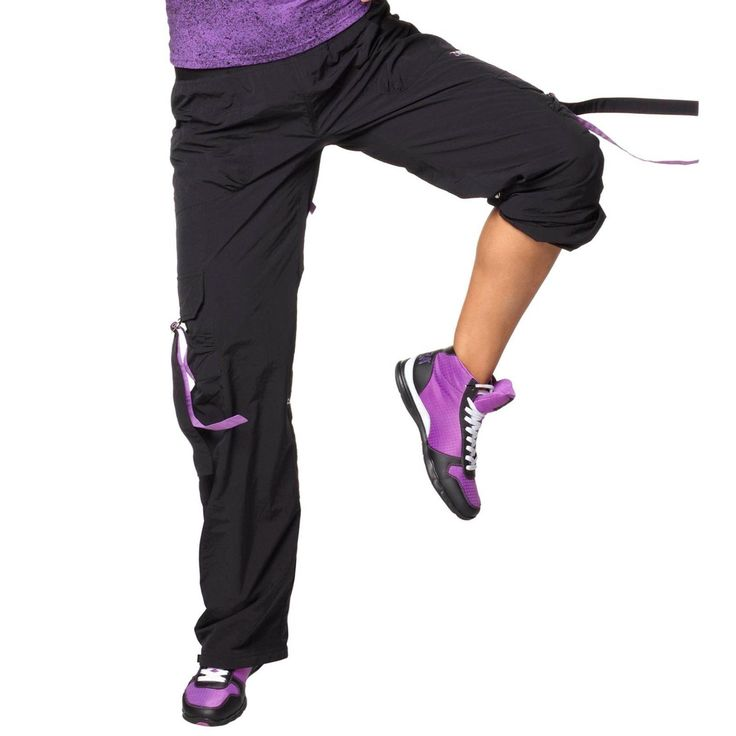 Authentic New Zumba Stellar Samba Cargo Pants Zumba -- Black --