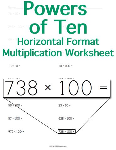 128 best Math STEM Resources images on Pinterest Math stem - horizontal multiplication facts worksheets