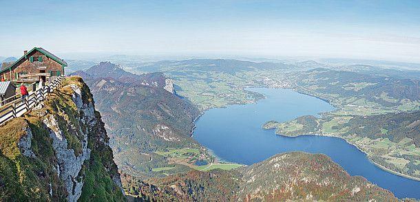 Schafberg mit Blick auf Mondsee © Oberösterreich Tourismus / Röbl