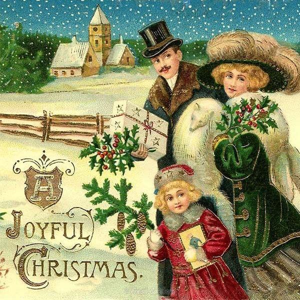 Немецкие новогодние открытки старые