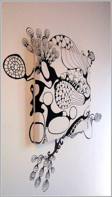IKEA Hackers: Saralisa fabric and graffiti fusion as wall decor