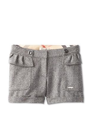 42% OFF Burberry Girl's Pleat Pocket Shorts (Grey)
