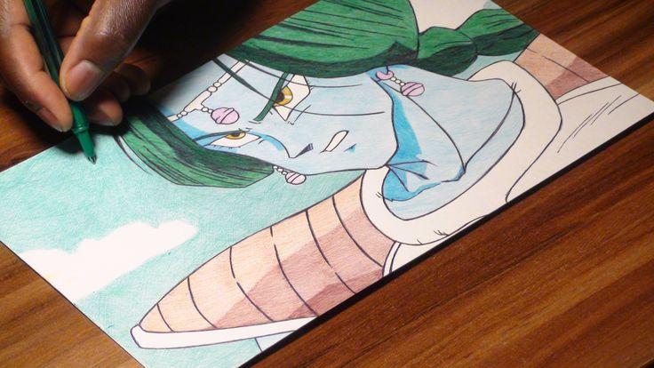 Zarbon Ballpoint Pen Drawing - DBZ 51 - Freehand Art