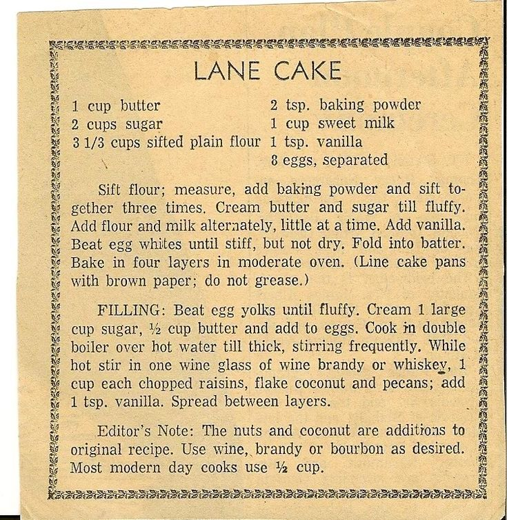 Granny Lessons: Lane Cake and Old Fashion Whiskey Nut Cake For the Holidays......