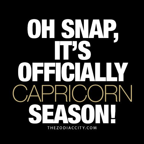 Big shoutout to all the Capricorns!!!